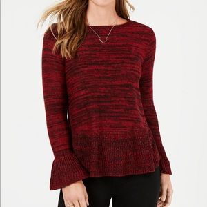Style&Co Ruffle-Trimmed Pullover Sweater